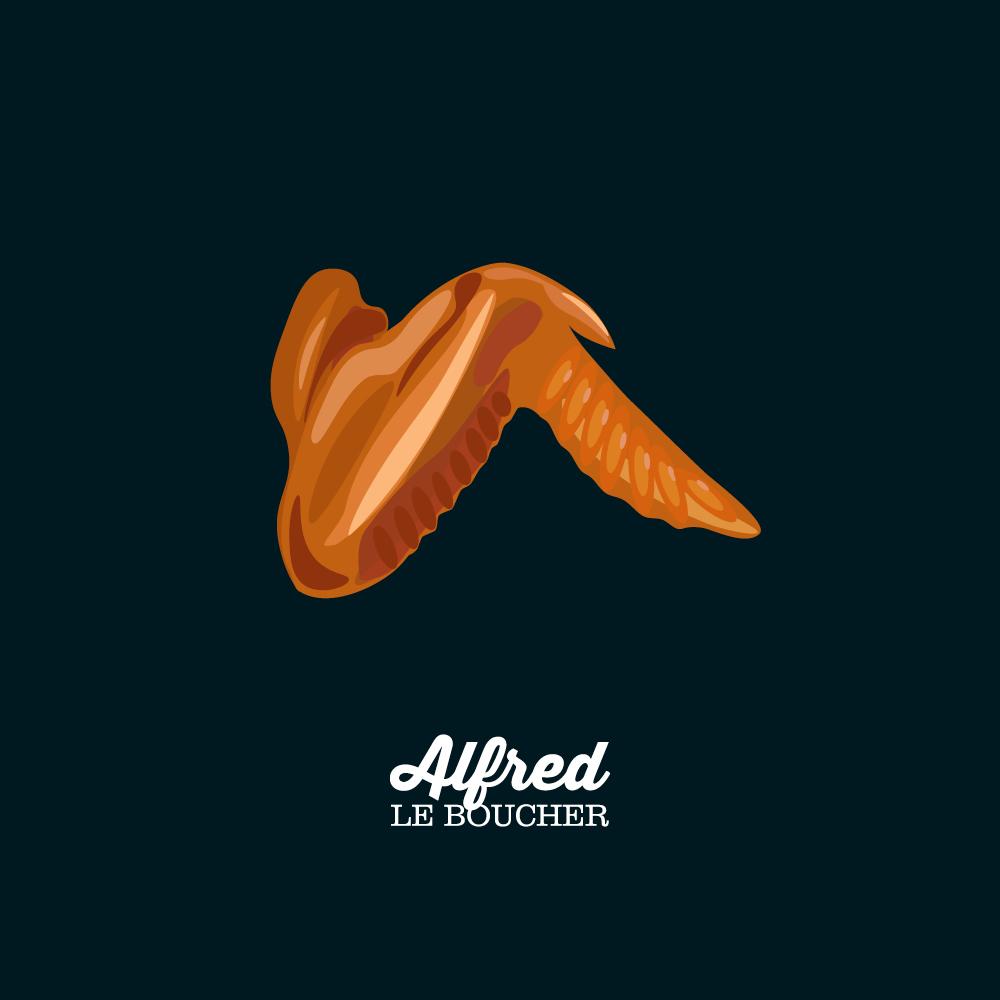 Ailes de poulet cuites d'Alfred le Boucher