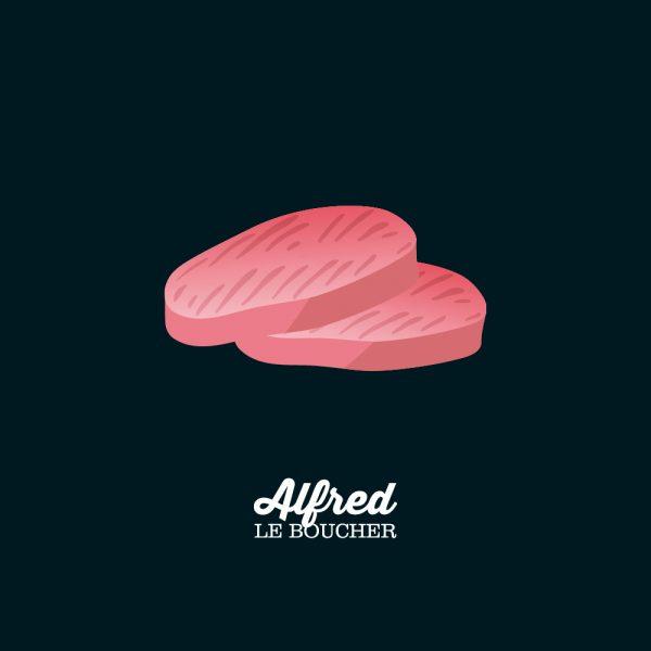 Côtelette de porc désossée d'Alfred le Boucher