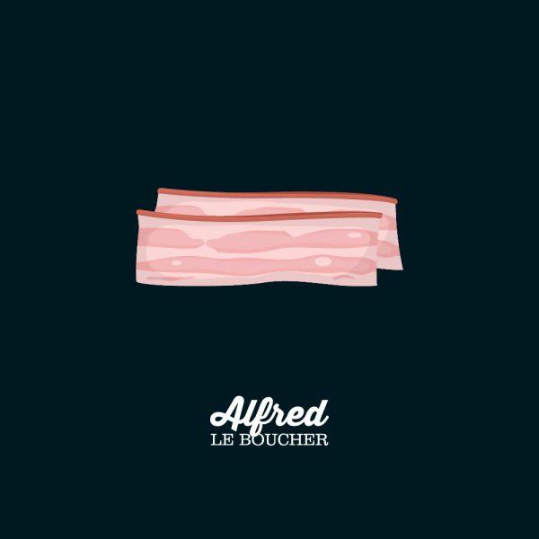 Bacon tranché d'Alfred le Boucher